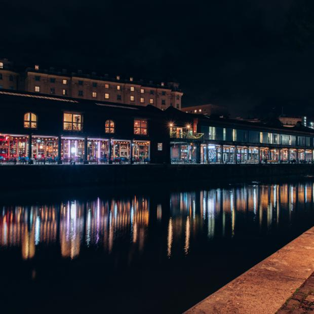 bristol harbourside at night